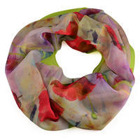 Summer snood 69tl004-20.30a - red with blue flowers