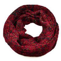 Tunelová pletená šála 69tz001-22f - tmavě červená