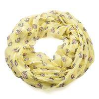 Summer snood 69tl009-01.30 - blue and white with abstract pattern