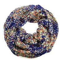 Summer infinity scarf 69tl004-30.14 - blue with small flowers