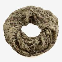Summer infinity scarf 69tl004-40.01 - brown with white roses