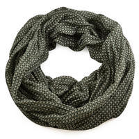 Summer snood 69tl006-51- green with geometrical print