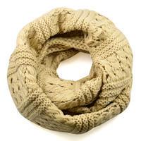 Tunelová pletená šála 69tz001-14e - béžová