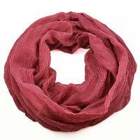 Summer infinity scarf 69tl003-22 - red strips