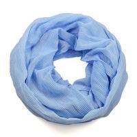 Summer infinity scarf 69tl003-31 - light blue, polka dots