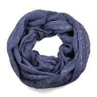 Summer infinity scarf 69tl003-36 - navy strips