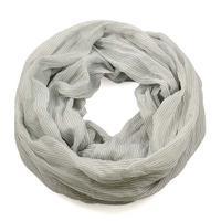 Summer infinity scarf 69tl003-71 - grey strips