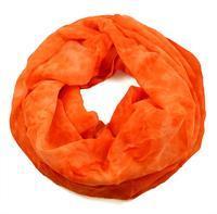 Tunelová šála 69tu002-11 - oranžová neonová batikovaná