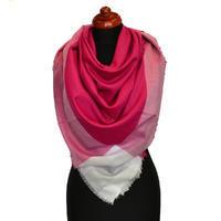 Velký šátek - malinová kostka