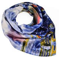 Square scarf - blue