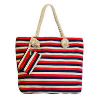 Velká letní taška 349pt003-20.30 - červené a modré pruhy