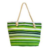 Velká letní taška 349pt003-50 - zelená pruhovaná