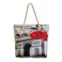 Velká letní taška 349pt011-03 - černobílá, Paříž