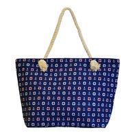 Velká letní taška 349pt014-36.02 - modrá s námořnickým vzorem