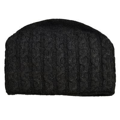 Pletená dámská čepice - šedá