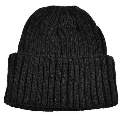 Pletená panská čepice - tmavě šedá