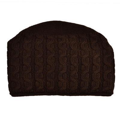 Pletená dámská čepice - hnědá