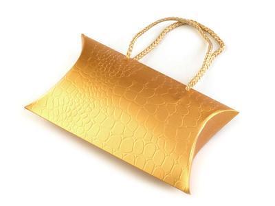 Dárková krabička zlatá - 1