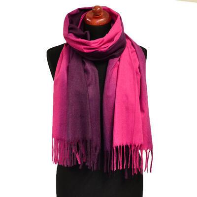 Maxi šála - růžovo-fialová - 1