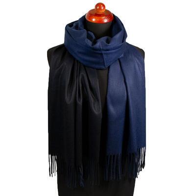 Maxi šála oboustranná - modro-černá - 1