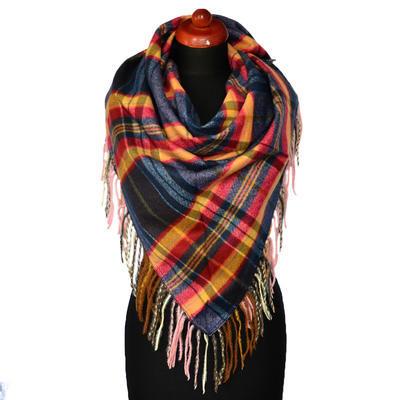 Maxi trojcípý šátek - modrozlatý