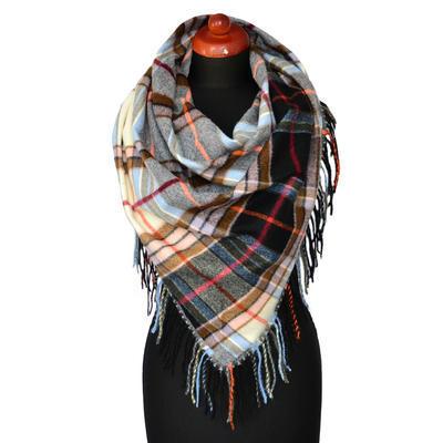 Maxi trojcípý šátek - modročerný