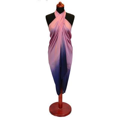 Pareo dámské Astarte - modrorůžové ombre