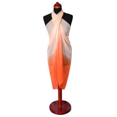 Pareo dámské - oranžové ombre
