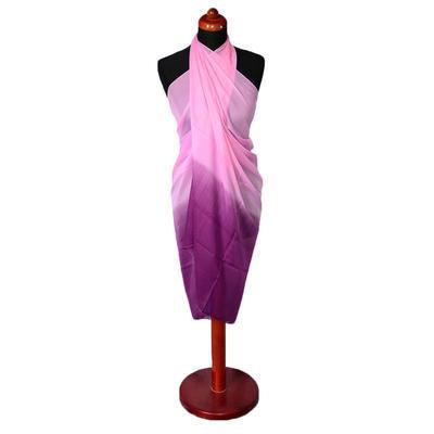 Pareo dámské - fialovorůžové ombre