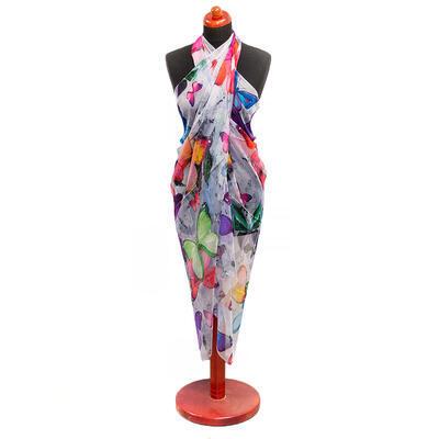 Pareo dámské - barevné s motýlky