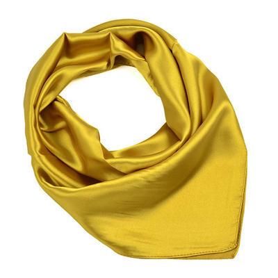 Šátek saténový  - zlatý