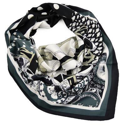 Velký šátek - černobílý - 1