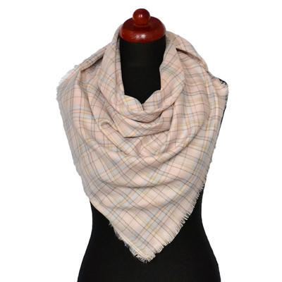 Velký šátek - růžová kostka - 1