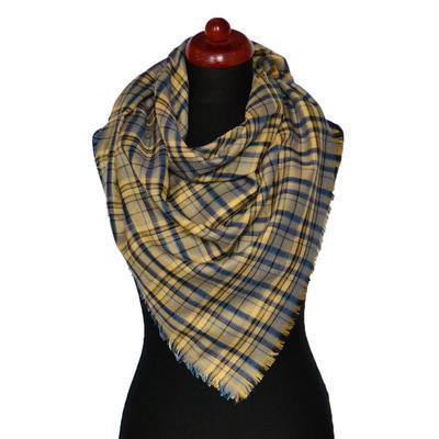 Velký šátek - zlatomodrá kostka - 1