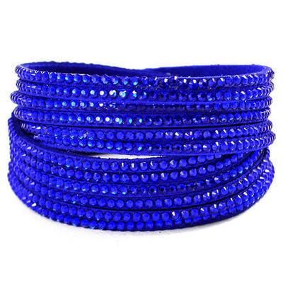 Dvojitý náramek s kamínky 26ss002-30 - modrý