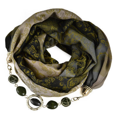 Warm bijoux scarf - black and brown