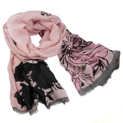 Classic women's scarf - pink