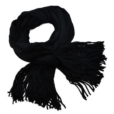 Šála pletená 69cp001-70 - černá