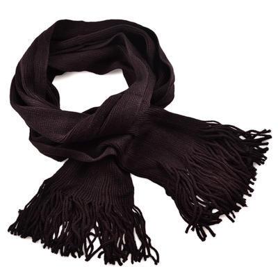 Šála pletená 69cp001-49 - tmavě hnědá