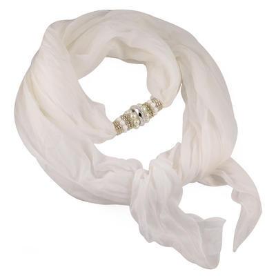 Jewelry scarf Bijoux Me - solid white