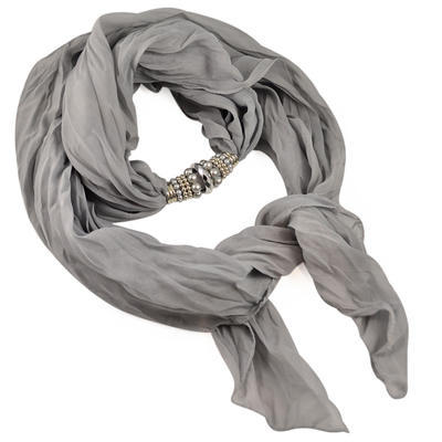 Jewelry scarf Bijoux Me - solid grey