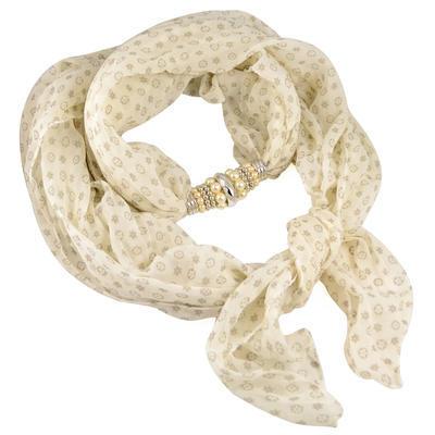 Jewelry scarf Bijoux Me - solid beige