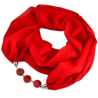 Šála s bižuterií Extravagant 396ext001-20 - červená - 1