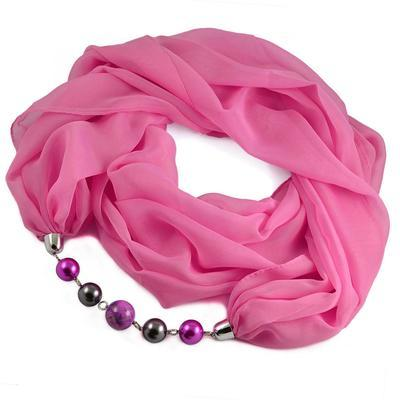 Šála s bižuterií Extravagant 396ext001-27 - růžová - 1