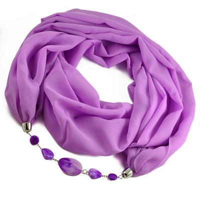 Šála s bižuterií Extravagant 396ext001-35 - bledě fialová - 1