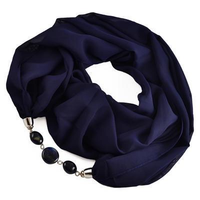 Šála s bižuterií Extravagant 396ext001-36 - tmavě modrá - 1