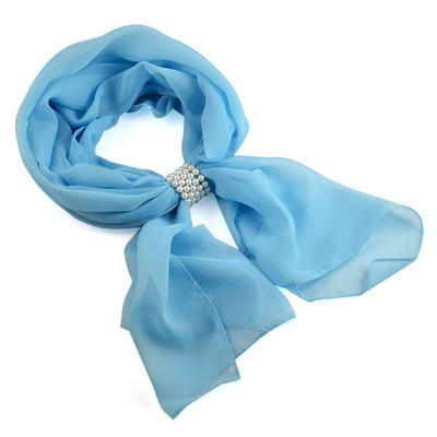 Šála se sponkou Melodie 299mel001- 31 - bledě modrá - 1