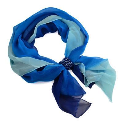 Šála se sponkou Melodie 299mel002-30.31 - modré ombre - 1