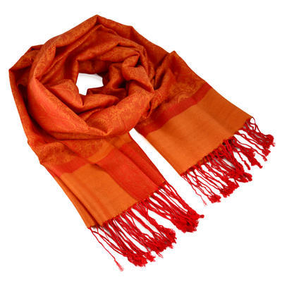 Šála teplá - oranžová
