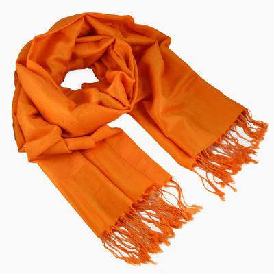 Šála teplá - oranžová jednobarevná
